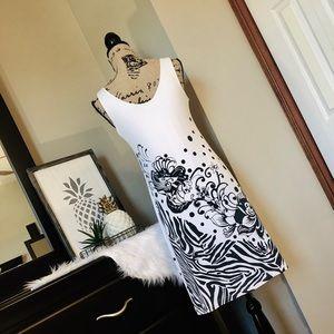 Joseph Ribkoff Dresses - Animal/Floral/Polka Dot Print Swing Dress